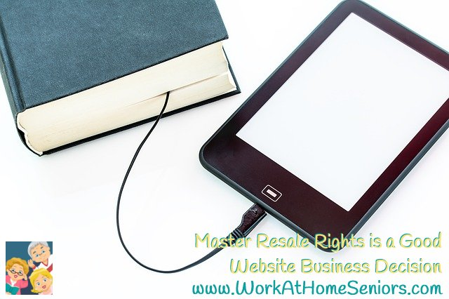 Master Resale Rights is a Good Website Business Decision